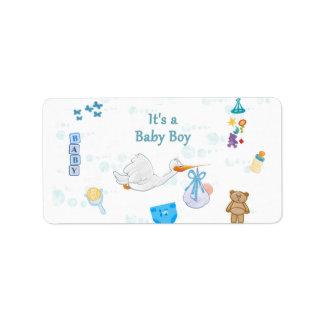 Es ist ein Junge - personalisierte Baby-Dusche Adressetikett