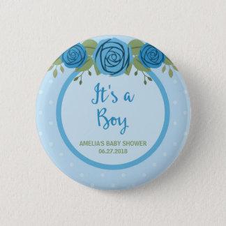 Es ist ein Jungen-blauer Tupfen und eine Runder Button 5,1 Cm