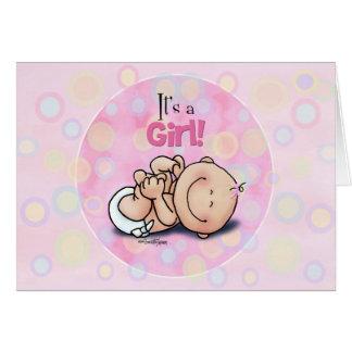 Es ist ein Mädchen - Baby-Glückwünsche! Grußkarte