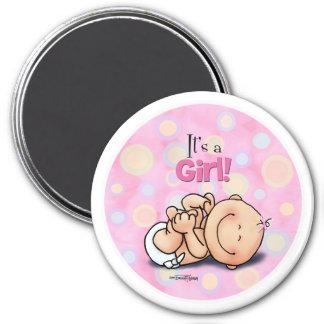 Es ist ein Mädchen - Baby-Glückwünsche! Magnet Magnets