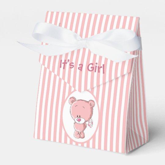 Es ist ein Mädchen-Bärn-Zelt-Bevorzugungs-Kasten Geschenkschachtel