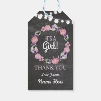 Es ist ein Mädchen dankt Ihnen Geschenkanhänger