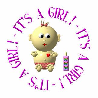 Es ist ein Mädchen! Freistehende Fotoskulptur