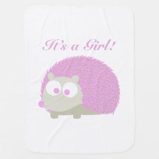 Es ist ein Mädchen! Igel Puckdecke