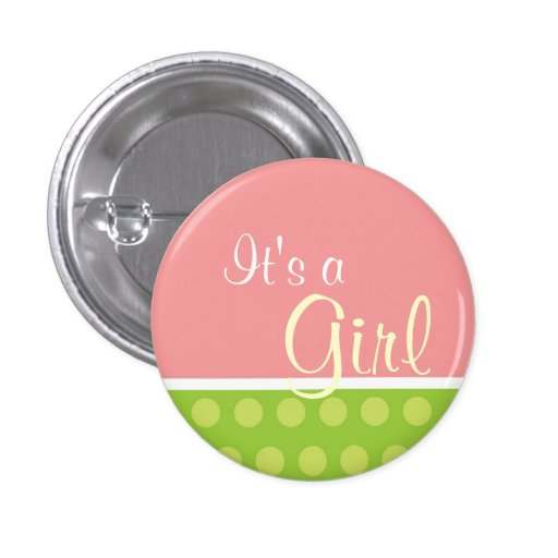 """""""Es ist ein Mädchen-"""" Knopf Buttons"""
