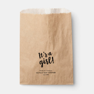 Es ist ein Mädchen, modisches Skript Kraftpapier Geschenktütchen