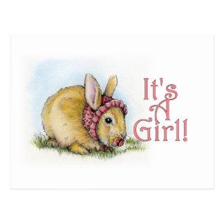 Es ist ein Mädchen! Postkarte