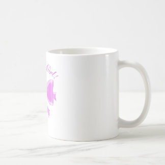 Es ist ein Mädchen! Satinband und -bogen Kaffeetasse
