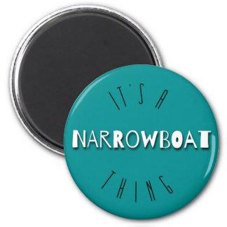 Es ist ein Narrowboat Sache-Kühlschrankmagnet Runder Magnet 5,1 Cm