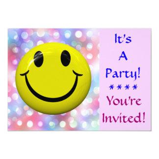 Es ist ein Party! Glückliche Gesichts-Einladung 12,7 X 17,8 Cm Einladungskarte