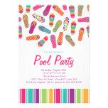 Es ist ein Sommer umdreht Reinfall-Pool-Party Einladungskarten