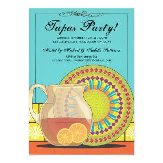 Es ist ein Tapas-Party! Glückliche 12,7 X 17,8 Cm Einladungskarte