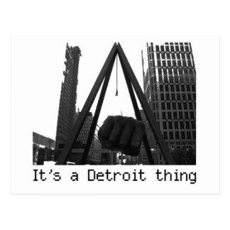 es ist eine Detroit-Sache Postkarte