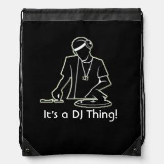 Es ist eine DJ-Sache! Turnbeutel