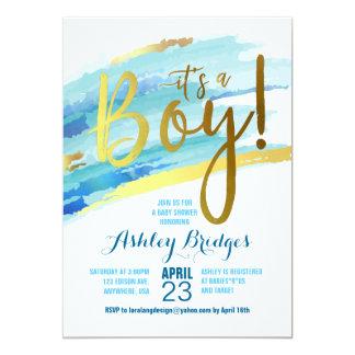 Es ist eine Jungen-Babyparty-Einladung Karte