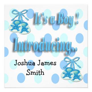 Es ist eine Jungen-Hintern-Geburts-Mitteilung Einladungskarten