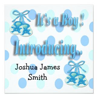 Es ist eine Jungen-Hintern-Geburts-Mitteilung Quadratische 13,3 Cm Einladungskarte