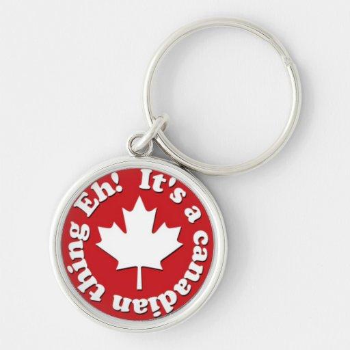 Es ist eine kanadische Sache wie! Rot und Weiß Schlüsselbänder