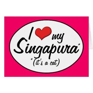 Es ist eine Katze! I Liebe mein Singapura Karte