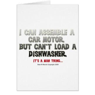 Es ist eine Mann-Sache: Kann eine Spülmaschine Grußkarte