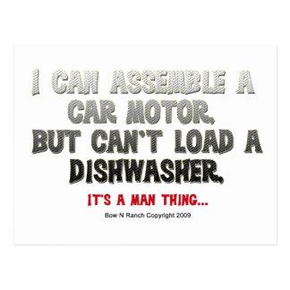 Es ist eine Mann-Sache: Kann eine Spülmaschine Postkarte