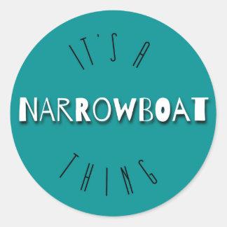 Es ist eine Narrowboat Sache-runde Aufkleber