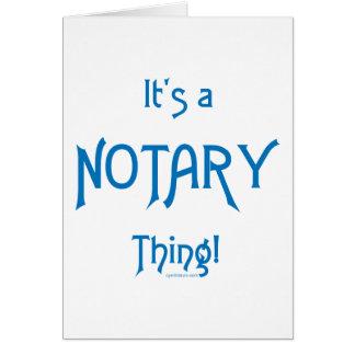 Es ist eine Notar-Sache Karte