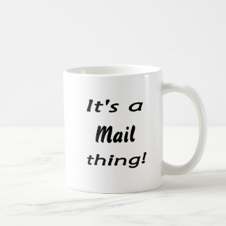 Es ist eine Postsache! Tasse