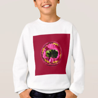 Es ist eine rote und gelbe Blume in der Kugel Sweatshirt