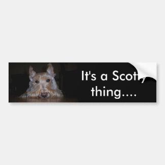 Es ist eine Scotty Sache… Autoaufkleber