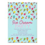 Es ist eine Sommer-Eiscreme-Party Einladung 12,7 X 17,8 Cm Einladungskarte