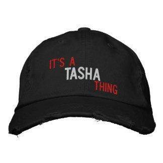 Es ist eine Tasha Sache - gestickter Logo-Hut Bestickte Baseballmütze