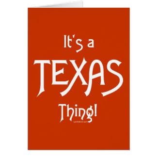 Es ist eine Texas-Sache! Karte
