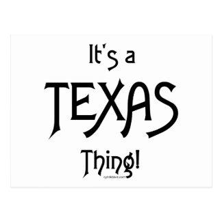 Es ist eine Texas-Sache! Postkarte