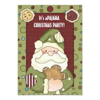 Es ist eine Weihnachtspyjama-Party Einladung
