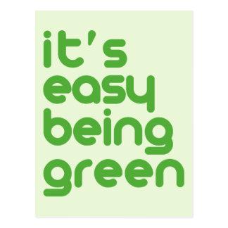 Es ist einfaches Sein grün Postkarte