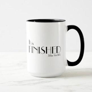 Es ist fertige Bibel-Vers-Tasse Tasse