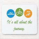 Es ist ganz über die Reise - Triathlon Mauspad