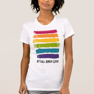 Es ist ganz über Liebe-Regenbogen-T - Shirt