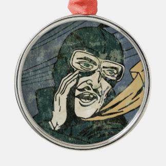 Es ist Geheimnis! Silbernes Ornament