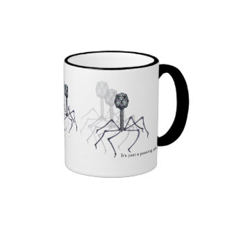 Es ist gerade ein überschreitenes Bakterium… Wisse Kaffee Haferl