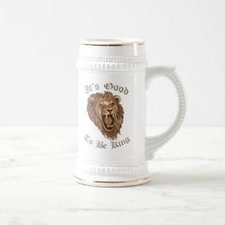 Es ist gut, König Lion Beer Stein zu sein Bierglas