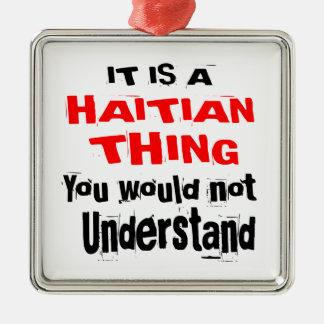 ES IST HAITIANISCHE SACHE-ENTWÜRFE SILBERNES ORNAMENT