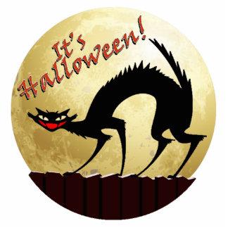 Es ist Halloween!!  Mond der schwarzen Freistehende Fotoskulptur