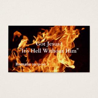 Es ist Hölle ohne ihn Visitenkarte