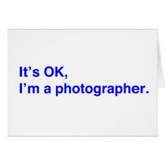 Es ist, ich ist ein Fotograf OKAY Karte
