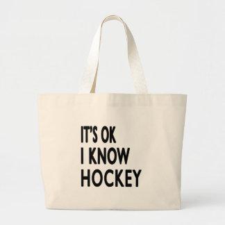 Es ist ich kennt Hockey OKAY Einkaufstaschen