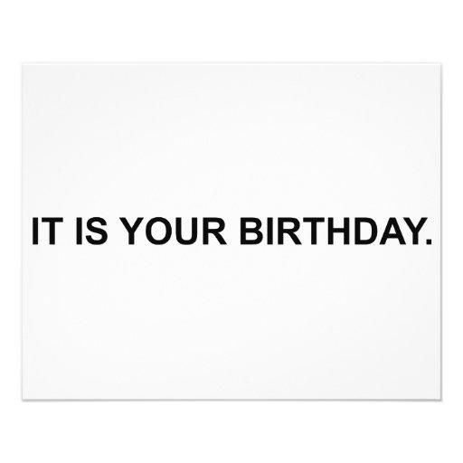 Es ist Ihr Geburtstag Individuelle Flyer