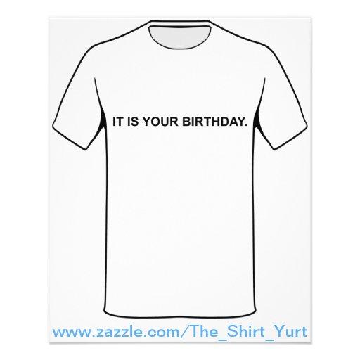Es ist Ihr Geburtstag Flyerbedruckung