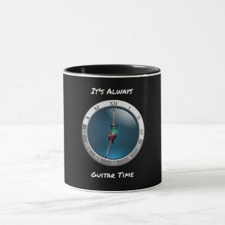 Es ist immer Gitarren-Zeit-Uhr-Tasse Tasse